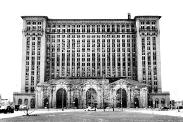 Wall Murals Train Station Michigan Central Station, Detroit, Michigan