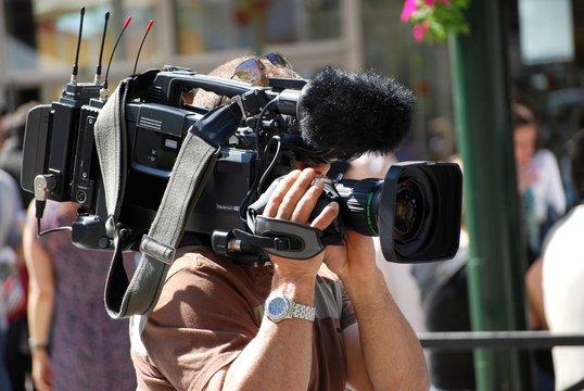 Caméraman et sa caméra