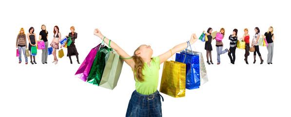 small girl consumerism dream