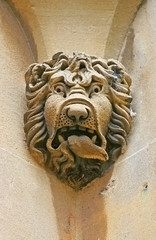 stone head lion