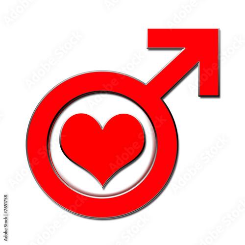 Verliebter mann signale