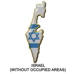 Israel 1 metal pin badge