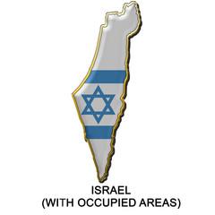Israel 2 metal pin badge