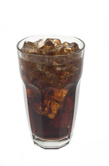 Glass of soda and ice