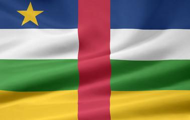 Zentralafrikanische Republik Flagge