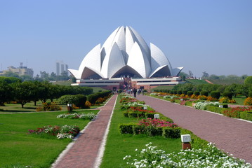 Photo sur Plexiglas Delhi Lotus Temple