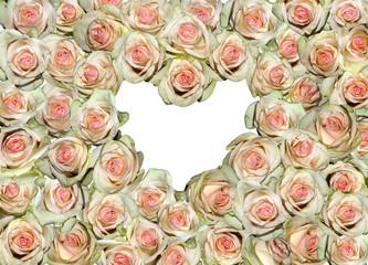 Herz in rosen