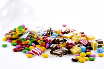 Colorful chocolate candies.........
