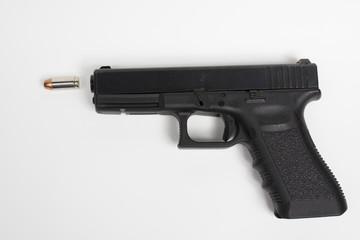 handgun on white background