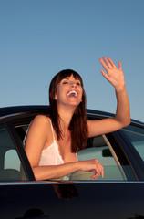 winken aus dem auto
