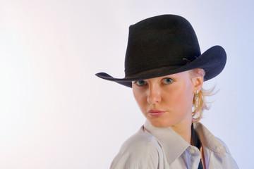 Portrait of woman in a hat