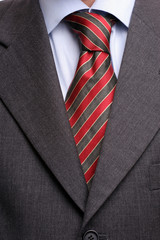 Detail of suit and tie