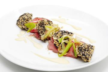 Veals sashimi.
