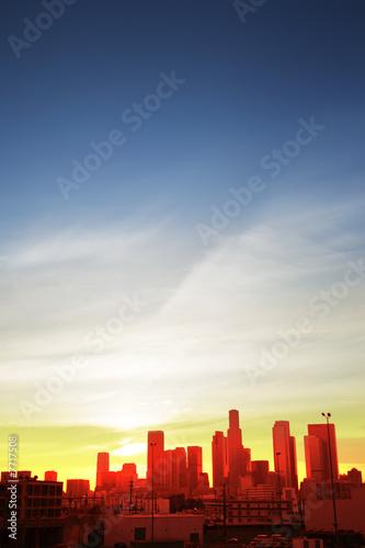 Fotobehang Downtown Los Angeles at sunset