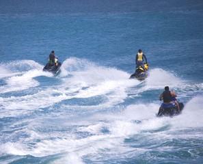 Foto op Plexiglas Water Motor sporten Speeding Jetskiers