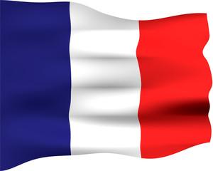 3D Flag of France