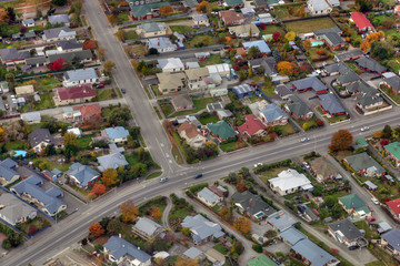 A suburb in a small New Zealand town