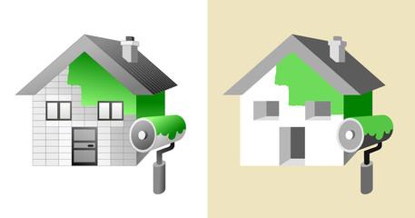 maison et peinture