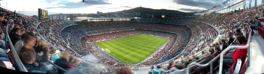 Photo sur Toile Taupe Stade du FC Barcelone