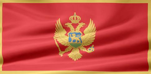 Montenegrische Flagge
