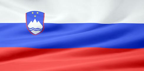 Slovenische Flagge