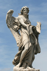 Angel sculpture from Sant'Angelo bridge in Rome, Italy