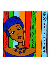 Bunte Vektor Illustration Afrika symbol