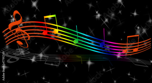 "Rainbow Music Stock Images: ""rainbow Music Notes"" Stock Photo And Royalty-free Images"
