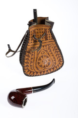 Tobacco Pouch And Pipe