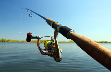 Printed roller blinds Fishing spinning and lake