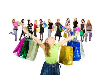 kid shopping joy