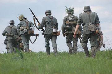 German soldiers. WW2 re-enacting