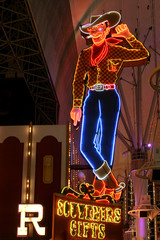 Cowboy Neon Sign in Las Vegas, USA