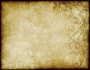floral paper or parchment
