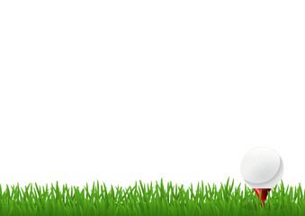 Pelouse et balle de golf (pied de page)