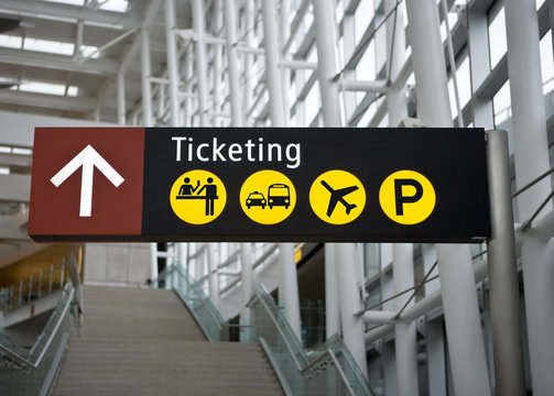 Ticketing Sign at Seattle (Sea-Tac) airport