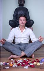 blüten mann meditation