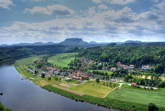Elbsandsteingebirge Blick von der Bastei