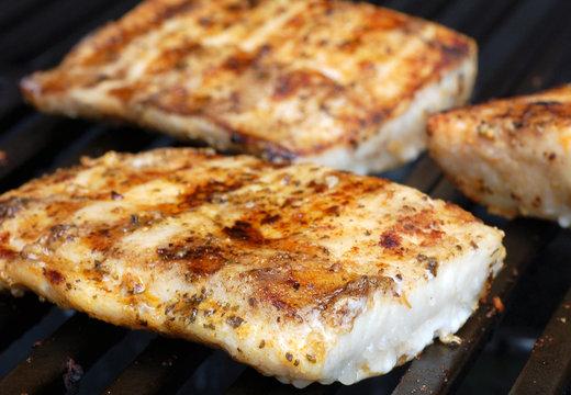 Mahi on the grill