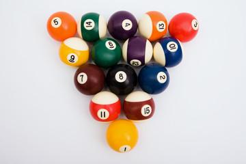Spheres for game in billiards