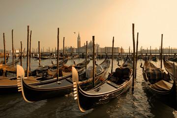 Türaufkleber Gondeln Venice gondolas