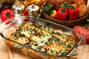Spinach Feta Strata