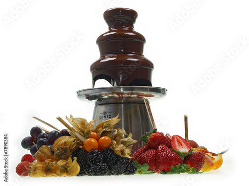 schokoladenbrunnen mit frische fr chte stockfotos und lizenzfreie bilder auf. Black Bedroom Furniture Sets. Home Design Ideas