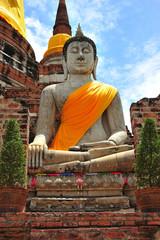 Thailand Ayutthaya Wat Yai Chai Mongkhon