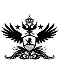 winged lion crest