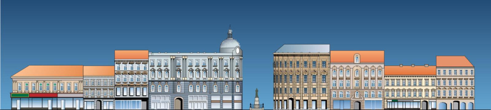 facade of the street