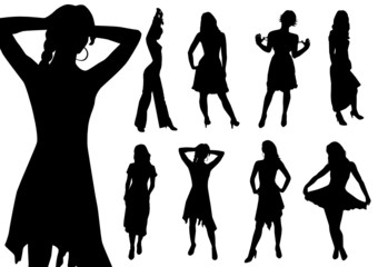 Collection of women. Vector.