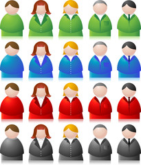 vector people icons - both male and female