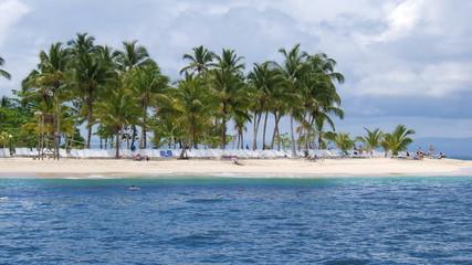 Plage déserte des Caraïbes