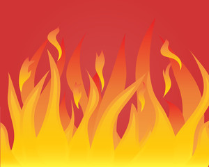Vector illustrations body of flame on red background
